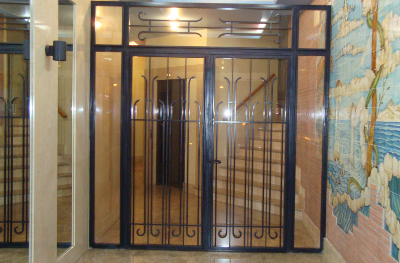 Puertas automaticas en madrid puertas de entrada en for Puerta entrada vivienda